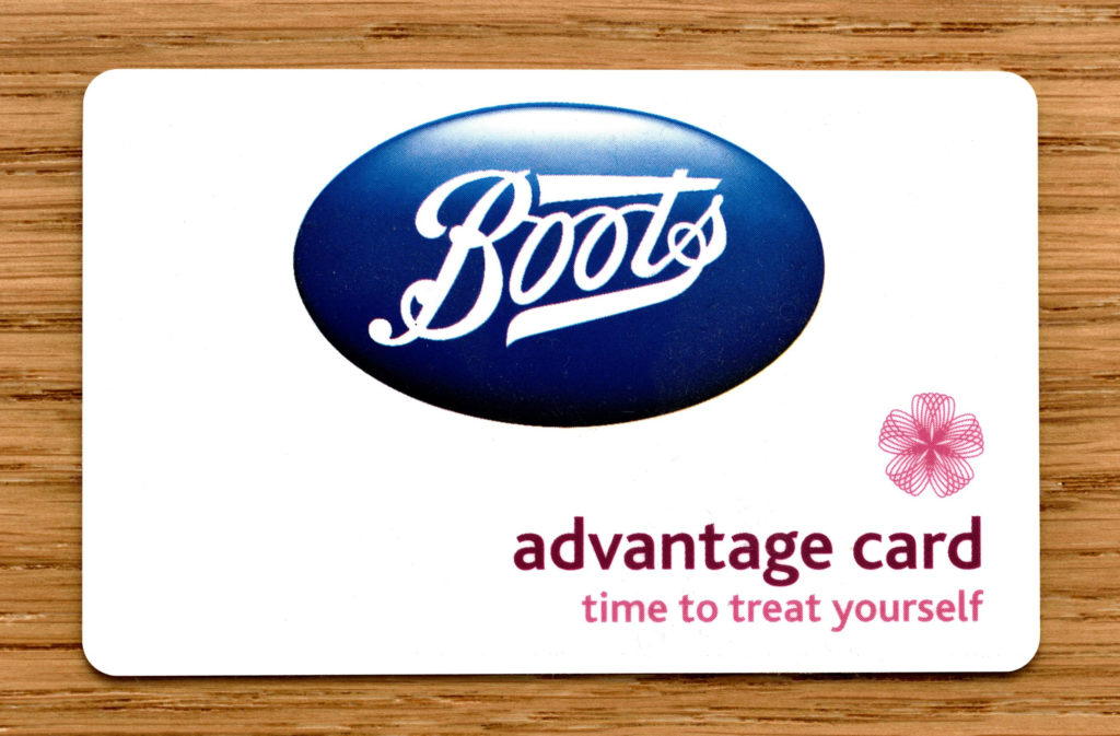 Boots Advantage Card on a table