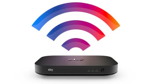 Picture of a Sky Broadband Hub delivering superfast wifi